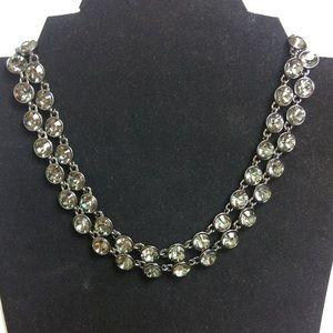 Givenchy Crystal Rhinestone Rope Necklace
